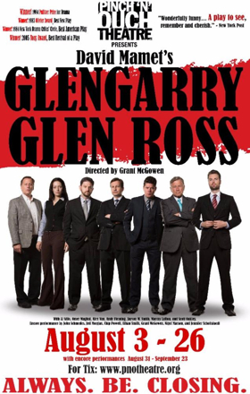 Pinch 'N' Ouch to Present GLENGARRY GLEN ROSS