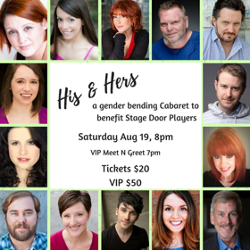 Stage Door Players Proudly Presents the HIS and HERS Cabaret