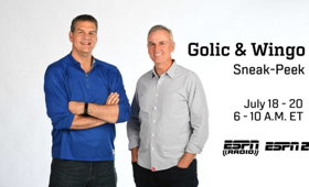 ESPN Radio to Debut GOLIC & WINGO Morning Drive Show This November