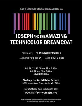 The City of Fairfax Theatre Company to Present JOSEPH AND THE AMAZING TECHNICOLOR DREAMCOAT