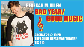 Stars from HAMILTON, GROUNDHOG DAY and More Set for REBEKAH M. ALLEN: BAD YEAR/GOOD MUSIC at the Beechman