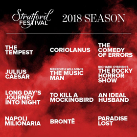 Shakespeare, Musicals, Premieres and More to Explore Free Will at Stratford Festival in 2018