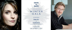 MEAN GIRLS' Tina Fey and Audible's Don Katz Will Be Honored at New York Stage and Film's 2017 Winter Gala