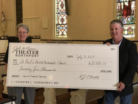 Engeman Theater Donates $25,000 to St. Paul's UMC Capital Campaign