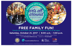 Houston Arts Partners to Host Inaugural ARTS ALL AROUND Festival This Fall