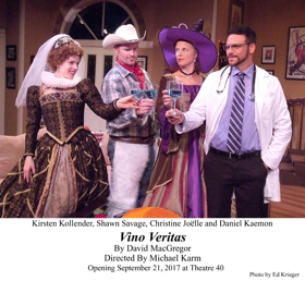 Review: The West Coast Premiere of VINO VERITAS Arrives at Theatre 40 Just in Time for Halloween