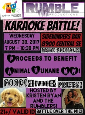 Rumble Productions Hosts Karaoke Battle to Support Animal Humane NM