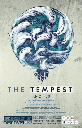 THE TEMPEST, Featuring Musicians from Kidznotes, to Play Raleigh Little Theatre