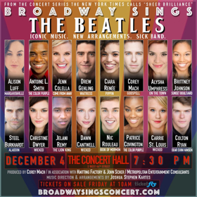 Jenn Colella, Drew Gehling, and More will Rock Out in BROADWAY SINGS THE BEATLES this December