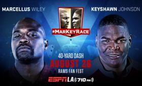 ESPNLA 710AM to Air #MarKeyRace 40-Yard Dash Between Keyshawn Johnson & Marcellus Wiley