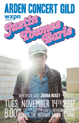 Arden Gild Hall Welcomes Back Justin Townes Earle; Fall Line Up Announced