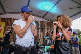 UK It Girl, Izzy Bizu Performs with Coldplay's Chris Martin at Intimate Show at The Wynwood Yard, Miami