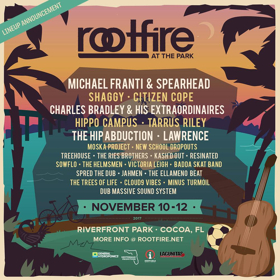 Rootfire at the Park Festival Returns to Cocoa FL for 3 Days