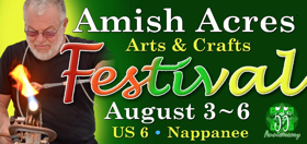 Amish Acres Arts & Crafts Festival Adds Dori Crane's Name to Best of Show Prize