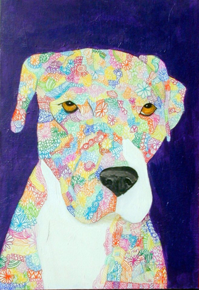 Maria Rachiele's DOODLE DOG PORTRAITS on View at King Center