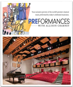PREformances with Allison Charney Launches Season Nine at Merkin Concert Hall at Kaufman Music Center
