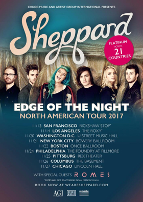 Sheppard Talks to Billboard Ahead of First U.S. Tour in Two Years