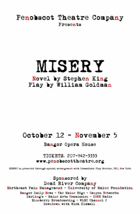 MISERY to Take the Stage in Stephen King's Hometown