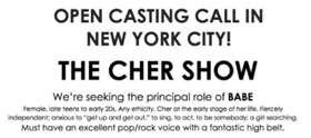 Do You Believe? Open Call Announced for THE CHER SHOW!