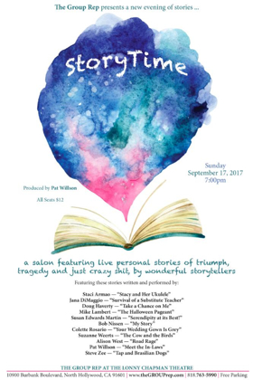 The Group Rep's STORYTIME Lineup Set for September