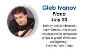 Solo Pianist Gleb Ivanov to Perform in Ocean Grove's 'Summer Stars' Series