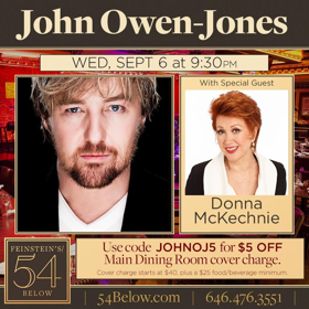 West End and Broadway Star John Owen-Jones Takes the Stage at 54 Below