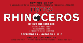 Tickets on Sale Today for Yiddish World Premiere of Ionesco's RHINOCEROS