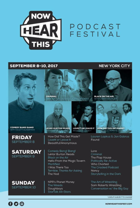 LeVar Burton and More Join Lineup for 2017 NOW HEAR THIS Podcast Festival