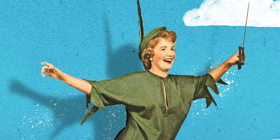 FOR PETER PAN ON HER 70TH BIRTHDAY Brings Happy Thoughts Off-Broadway Tonight
