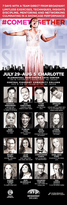 BROADWAY DREAMS to Return to Charlotte with a Terrific Broadway Faculty