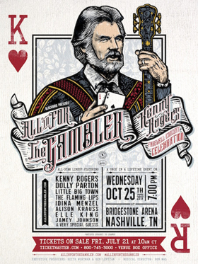 Reba McEntire, Lady Antebellum and More Sign on for 'ALL IN FOR THE GAMBLER' Kenny Rogers Concert Celebration