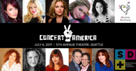 Sierra Boggess, Megan Hilty, Dinah Manoff, and More Perform in CONCERT FOR AMERICA at The 5th Avenue Theatre Today