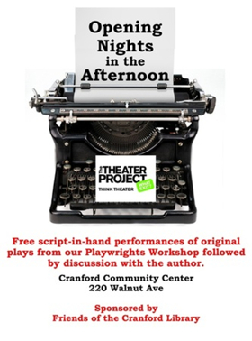 Fall Reading Series Continues in Cranford with MICKEY AND ANTHONY