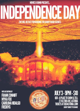 Live-Riffed INDEPENDENCE DAY Screening Set for Q.E.D. in Astoria