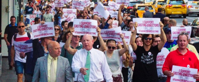 Photo Flash: Broadway Casting Directors Union Marches on Broadway Producers' Office