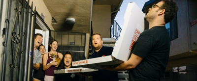 VIDEO: Seth Rogan & James Corden Deliver Pizzas to Total Strangers in L.A.