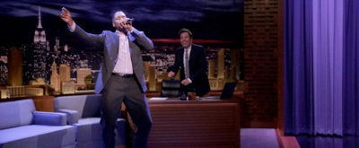 VIDEO: Michael Strahan Performs New Edition's 'Can You Stand the Rain' on TONIGHT SHOW
