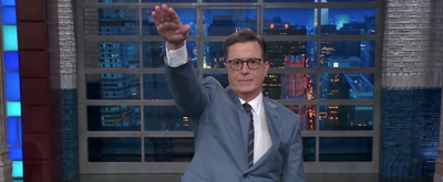 VIDEO: Stephen Colbert Stirs Controversy By Flashing Nazi Salute During Bannon Bashing
