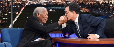 VIDEO: Morgan Freeman & Stephen Colbert Bond Over Passion for Sci-Fi