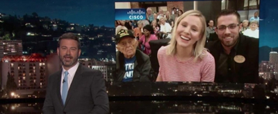 VIDEO: Jimmy Kimmel Talks to Kristen Bell Live in Orlando After Hurricane Irma