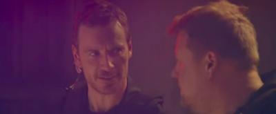 VIDEO: Michael Fassbender & James Corden Are Bumbling SWAT Team Members on Late Night Sketch