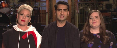 VIDEO: Kumail Nanjiani, Aidy Bryant & Pink Promo This Week's SNL