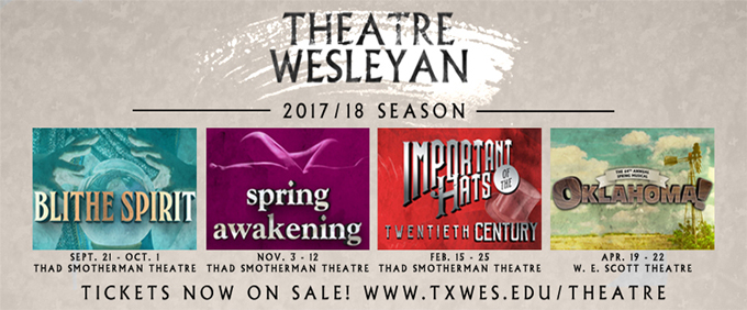 Tickets now on sale for Theatre Wesleyan's 2017/18 season