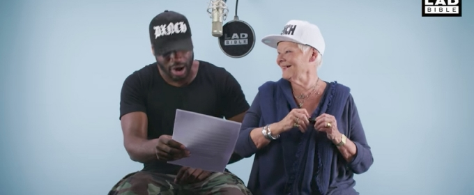 VIDEO: Pow! Lethal Bizzle Teaches Dame Judi Dench How To Rap