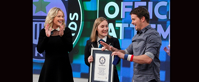 KEVIN (PROBABLY) SAVES THE WORLD Star Jason Ritter Achieves World Record
