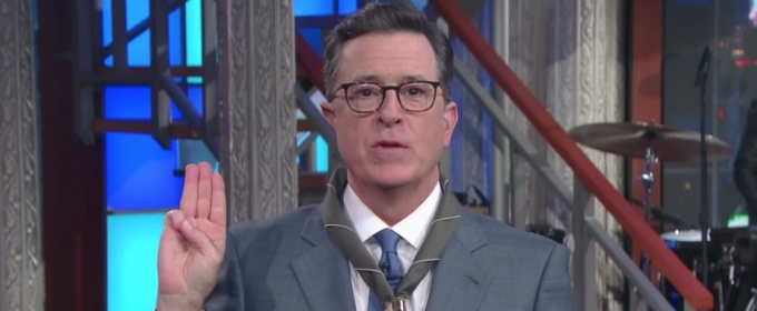 VIDEO: Stephen Colbert Reveals New Boy Scout Oath for the Trump Era