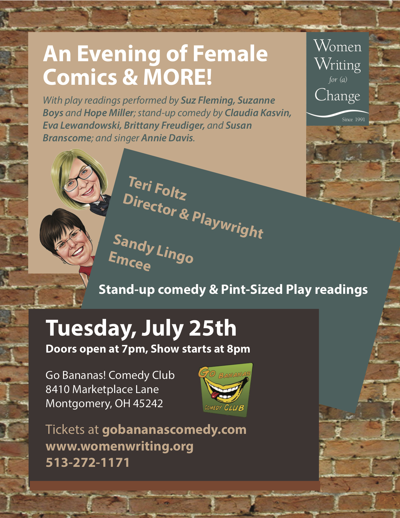 BWW Feature: AN EVENING OF FEMALE COMICS at Women Writing for a Change