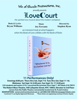 Isle of Shoals Productions, Inc Sets Cast for New Musical LOVE COURT