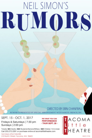 Tacoma Little Theatre Opens 99th Season with RUMORS