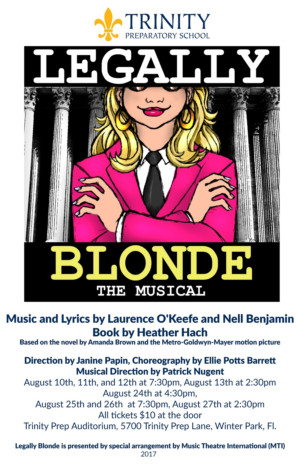 Trinity Preparatory School Presents LEGALLY BLONDE the Musical